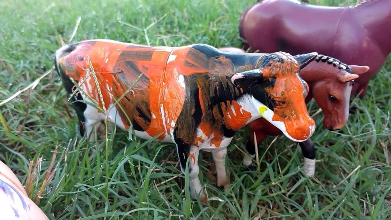 Learn Colors Names Sounds Fun Painting Farm Animal Toys Old Macdonald Nursery Rhyme Kids Z Fun