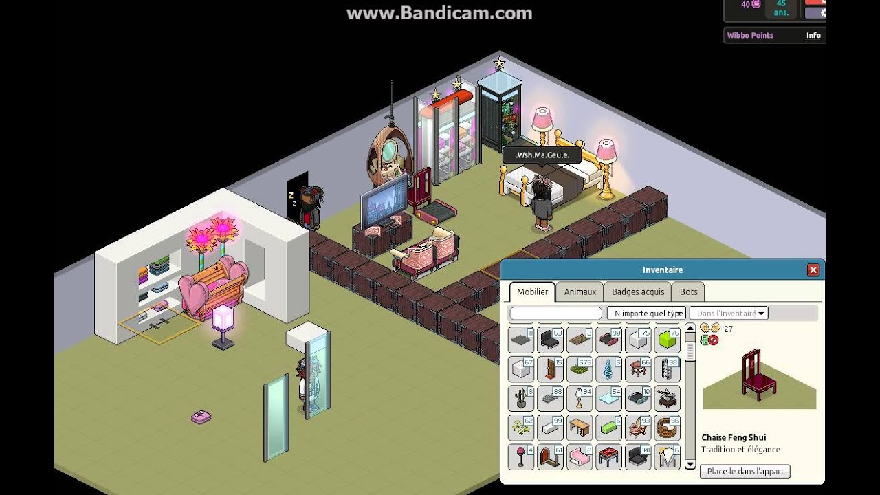 habbo comment faire une chambre d 39 enfant et une chambre d. Black Bedroom Furniture Sets. Home Design Ideas