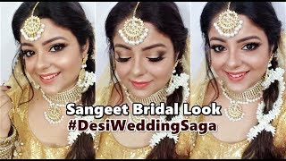 Sangeet Bridal Look | #DesiWeddingSaga | Priaz Beauty Zone