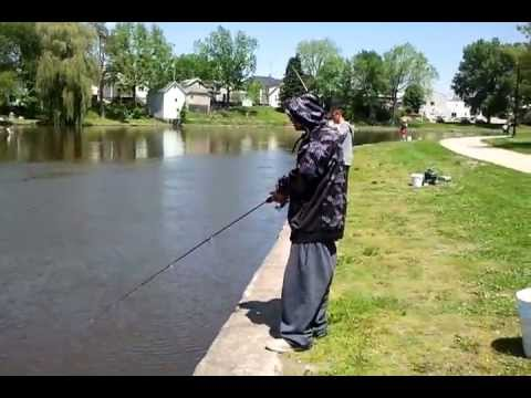 Went fishing for white bass in Fort Atkinson, Wi