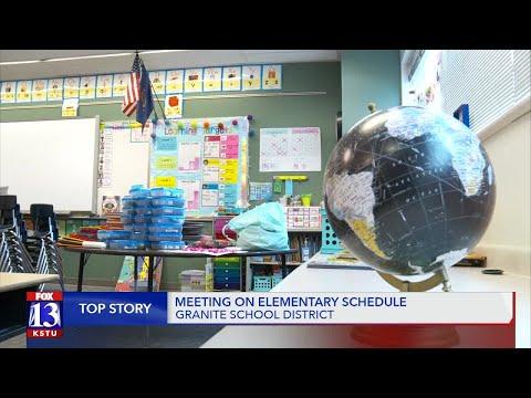 Granite School District adjusts elementary school schedules