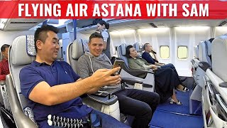 Review: Air Astana Boeing 757 Business Class with Sam Chui to Almaty