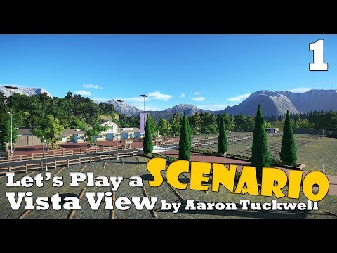 Planet Coaster: Let's Play a scenario - Vista View - Ep. 1 - What a beautifull park and scenario!