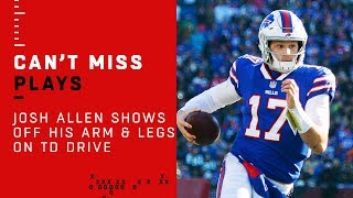 Josh Allen Shows Off His Arm & Legs on Dominant TD Drive!