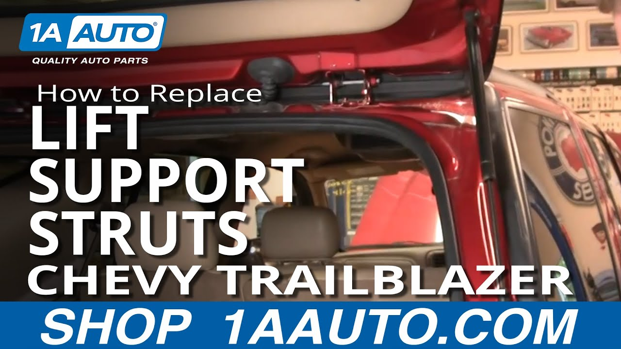 2005 chevy equinox suspension diagram holden wb ignition wiring how to replace lift support struts 02 09 trailblazer youtube