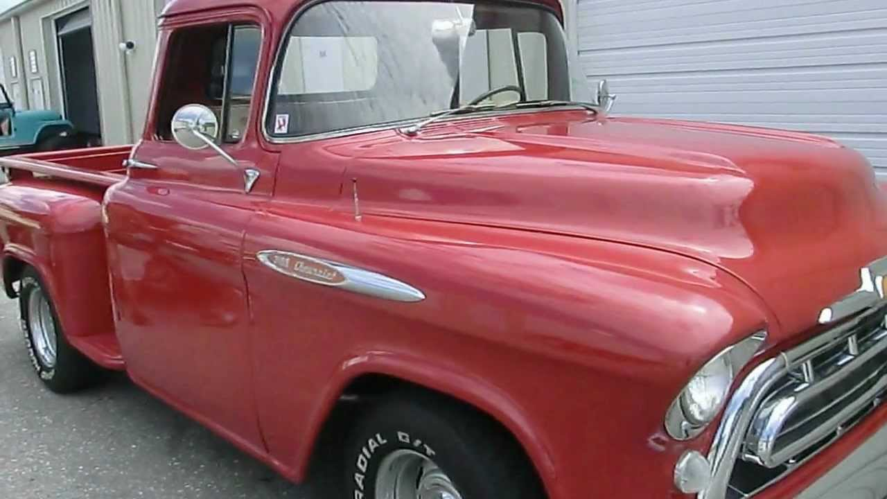 chevy pick up truck 1957 classic car import florida usa auto kaufen usa 1 youtube. Black Bedroom Furniture Sets. Home Design Ideas