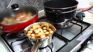 Некоторые корейские домашние блюда - у подруги на кухне