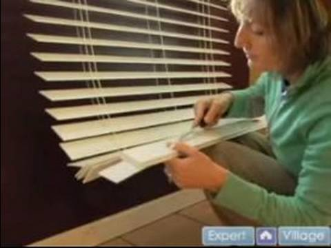 How to Install Faux Wooden Blinds : Adjusting the Length of Your Faux Blinds