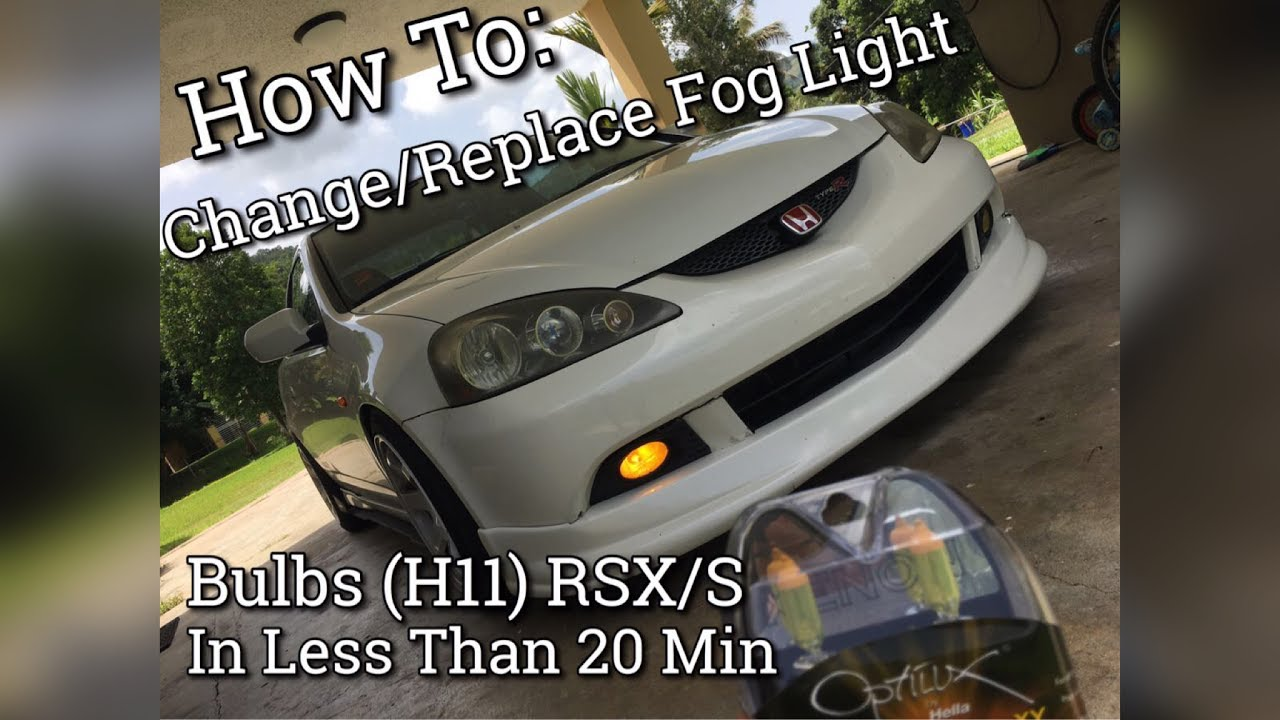 how to change replace bad fog light bulbs rsx s h11  [ 1280 x 720 Pixel ]