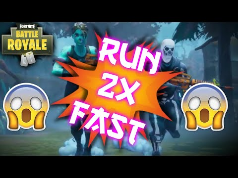 OLD GLITCH PATCHED* HOW TO RUN 2X FASTER IN FORTNITE BATTLE