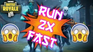 *OLD GLITCH PATCHED* HOW TO RUN 2X FASTER IN FORTNITE BATTLE ROYALE! (XBOX ONE/PS4/PC)