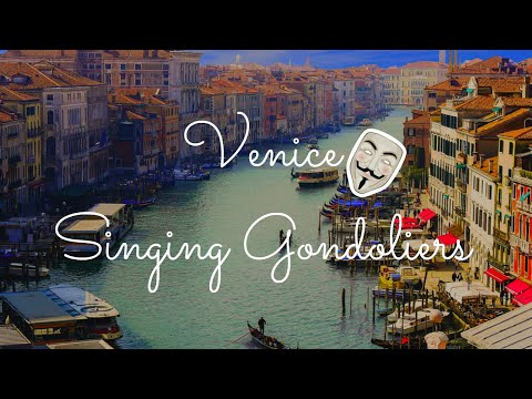 Singing Gondoliers at Venice Canal