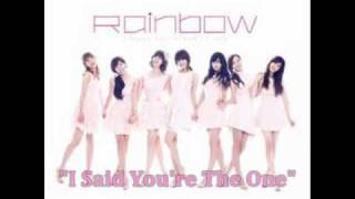 mp3 download rainbow  너뿐이라고 i said youre the one w romanized english lyrics