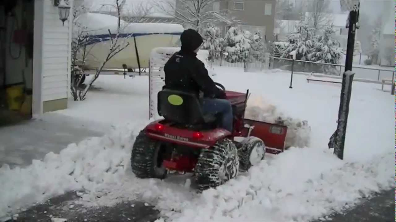 Wheel Horse Plowing Snow Video Youtube
