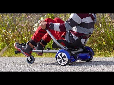 Kart para patineta el ctrica hoverboard el hoverkart for Sillas para hoverboard
