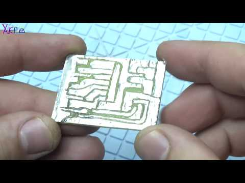 How To Make PCB Board without ACID and 10 Led Chaser without 555 timer