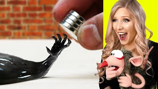 INSANE VENOM MAGNETIC SLIME ASMR (MARVEL EXPERIMENTS!)