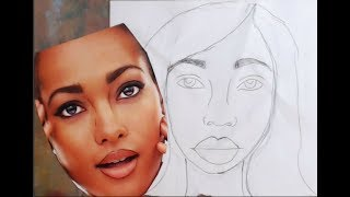 How to Use A Magazine to Draw A Face