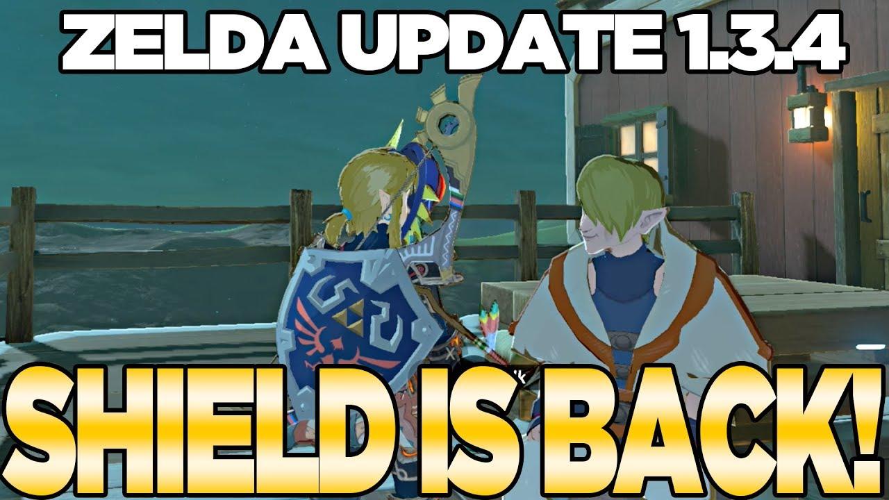 Zelda Update 1 3 4 The Hylian Shield Is Back Breath Of