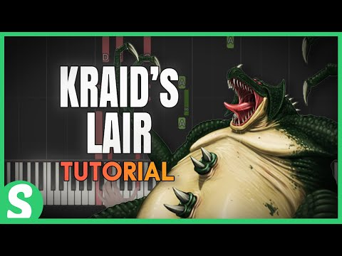 """How to play """"KRAID'S LAIR"""" from Metroid  (Synthesia) [Piano Video Tutorial] [HD]"""