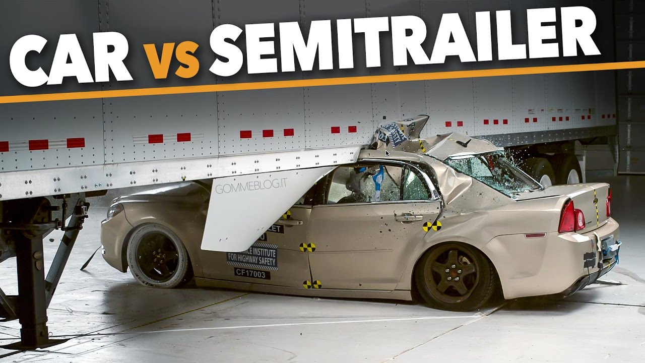 Car vs Truck – SemiTrailers Side Underride Crashes Accident - 2017 Cars CRASH TEST IIHS REVIEW
