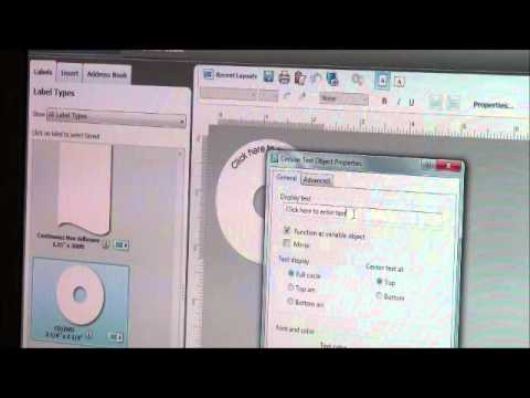 How to Create CD and DVD Labels on your Dymo Printer - YouTube - create cd labels