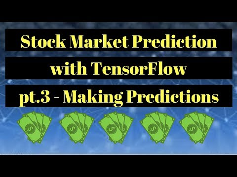 Stock Market Prediction with TensorFlow - Making Predictions pt. 3
