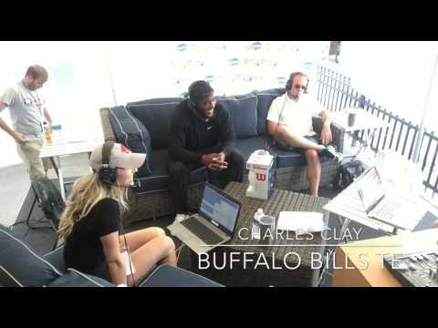 Buffalo Bills Training Camp- TE Charles Clay Talks Hot Yoga