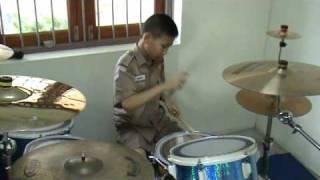 Mek Drummer 9 years old .Thailand drum soloน้องเมฆเพชรบุรี