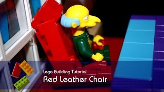 Lego Tutorial - Building Mr Burns Leather Chair From The Power Plant In The Simpsons