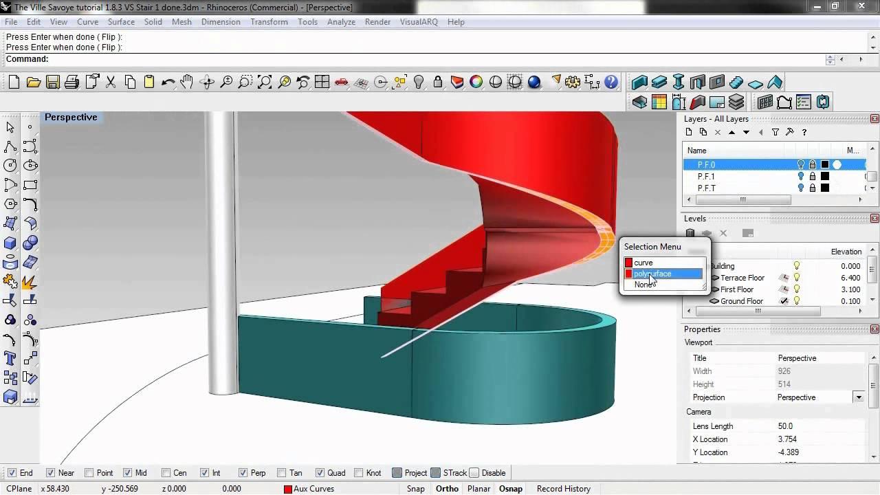 Rhino and VisualARQ step-by-step video tutorial - VisualARQ