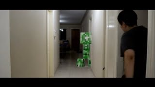 Minecraft Creeper Attack In Real Life (SHORT FILM)