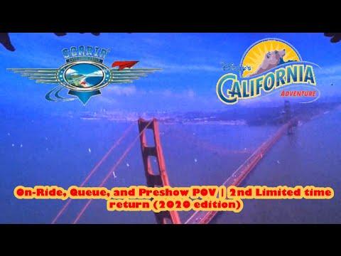 Soarin' Over California On-Ride And Queue POV With Preshow 60fps | Disney California Adventure 2020