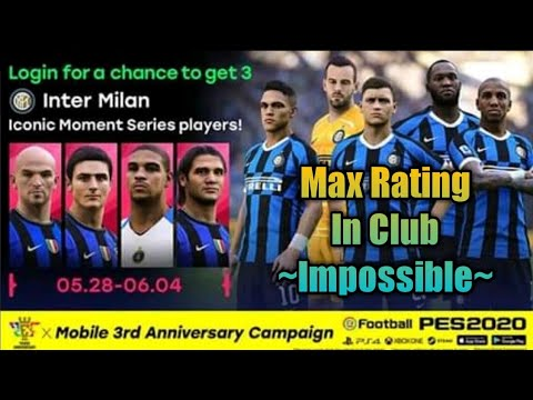 Update PES MOBILE 2020 Android ICONIC LEGEND INTER MILAN PLAYERS MAX RATING , WHO PLAYER??