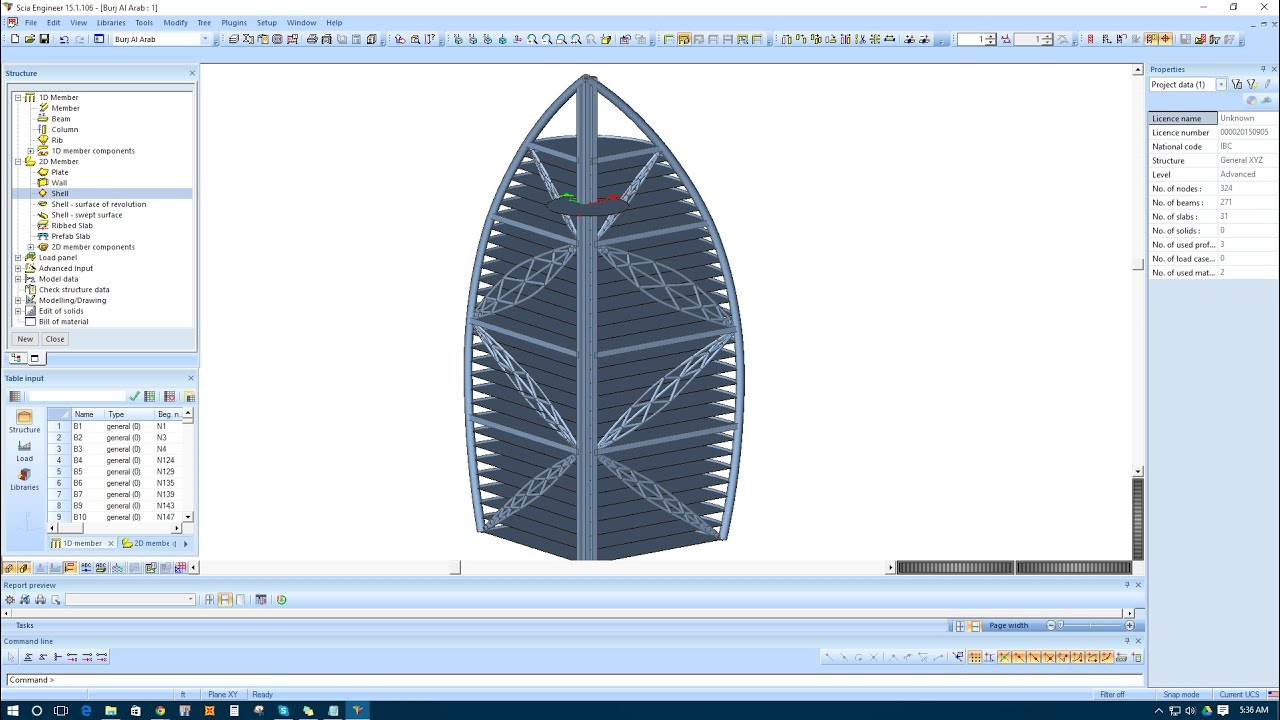 Modeling Burj Al Arab Prototype In Scia Engineer Youtube