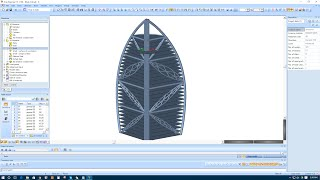 Modeling Burj Al Arab Prototype  in SCIA Engineer