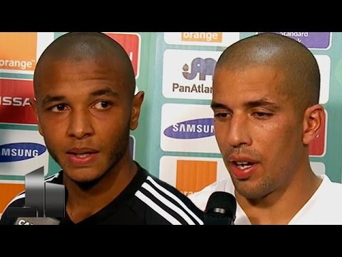 CAN 2015 : ALG 3 - 1 AFS - INTERVIEW FEGHOULI ET BRAHIMI