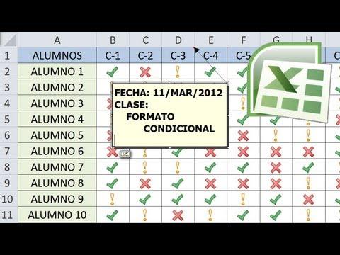 Tutorial de Excel - 4 ejemplos de Formato Condicional - Lista de Asistencia - Asesor Juan Manuel