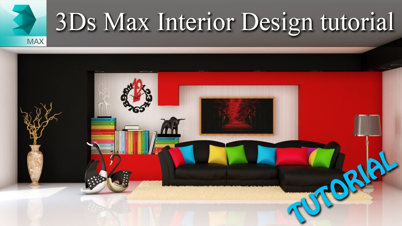 3ds max interior design tutorial 2 vray lighting and for Decoration 3ds max