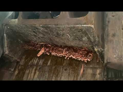 LEFORT shear/baler Trax600 cutting copper