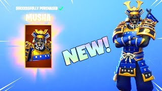 NEW! MUSHA & HIME SKINS! (New EMOTE Item Shop Update) Fortnite Battle Royale