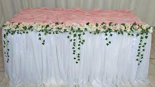 Como Fazer Saia de Mesa Para Decoração de Festas Aniversários Com Tecido Tnt Flores Montar Saia