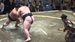 20150515 大相撲夏場所6日目 妙義龍vs逸ノ城 イッチー敗れる.