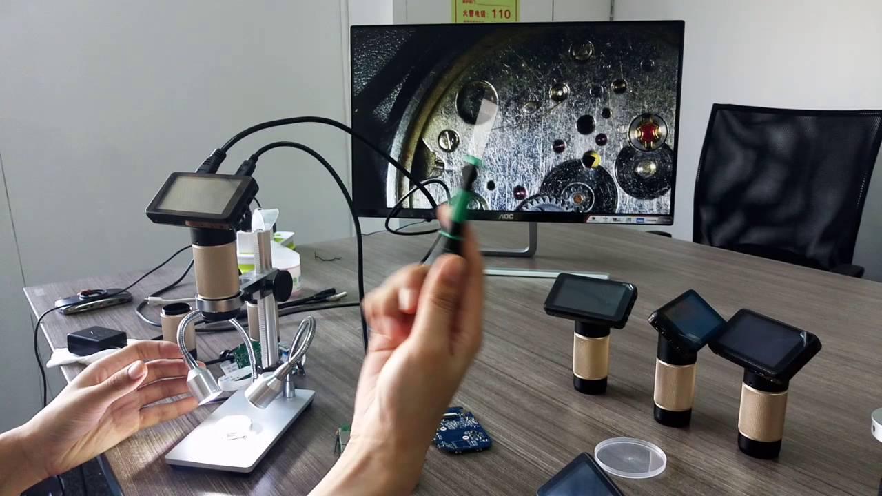 demonstration of HDMI mode digital microscope repair tool PCB watch ...