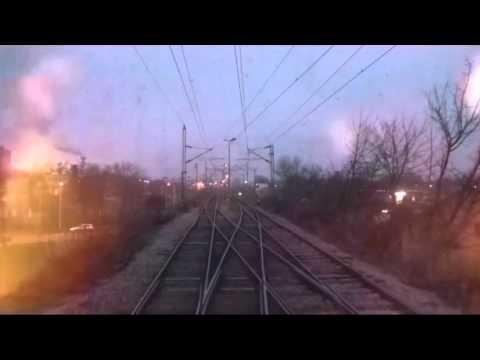 Train Driver's view/railroad in Serbia from Petrovaradin to Novi Sad - SERBIAN RAILWAYS