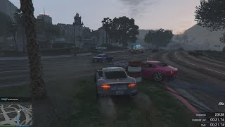 GTA V PC - Crazy Race, blyaaaat!