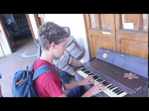 au musée des instruments de musique à La Paz