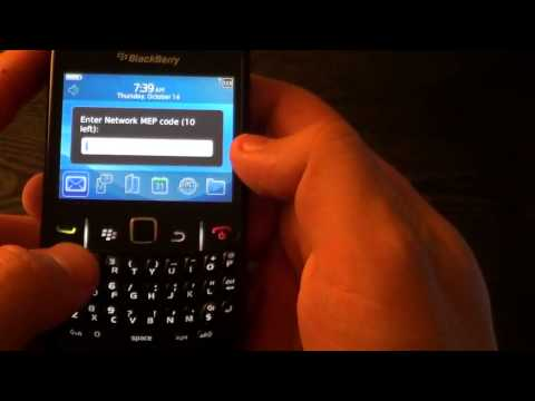 2 ways how to unlock Blackberry Curve 8320 8520 8530 without sim card AT&T Verizon T-mobile Rogers