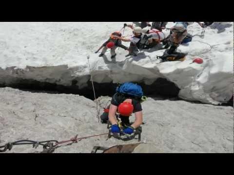 Zugspitze über Höllental Leiter Brett Höllentalferner Klettersteig zur Zugspitze