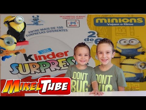 MINIONS Kinder Huevo Chocolate Sorpresa en Español Mikel Tube juguetes